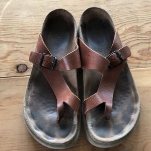 Mephisto sandals 40 brown leather